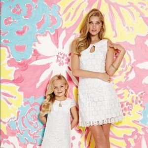 NWT Lilly Pulitzer Nicci White Lace Pearl Dress 2